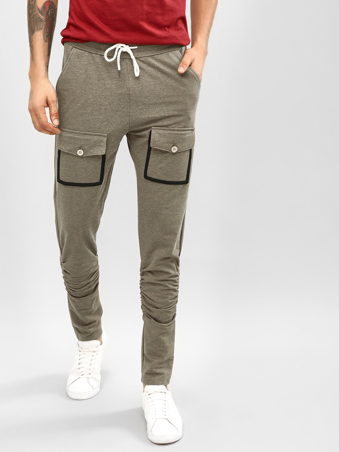 Fighting Fame Olive Slim Fit Cargo Joggers 1