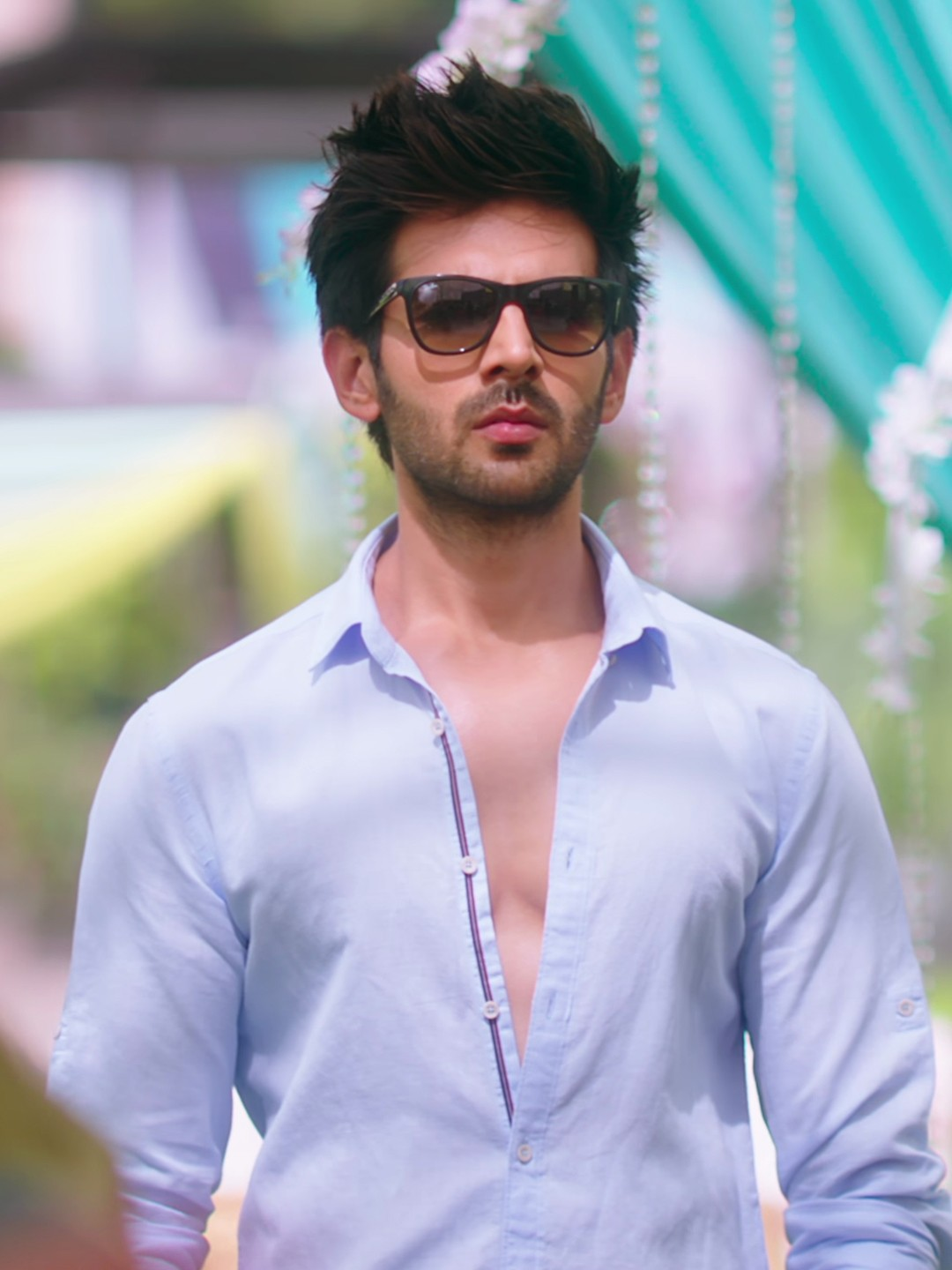 Bollywoo Blue In The Style Of Kartik Aryan Casual Shirt 1