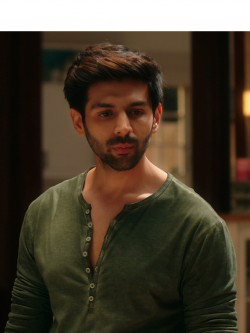 Bollywoo In The Style Of Kartik Aryan Henley T-Shirt