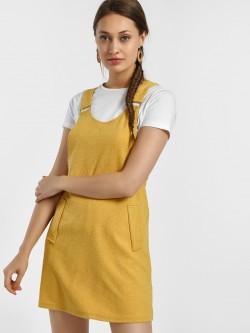 New Look Twin Pocket Pinafore Shift Dress