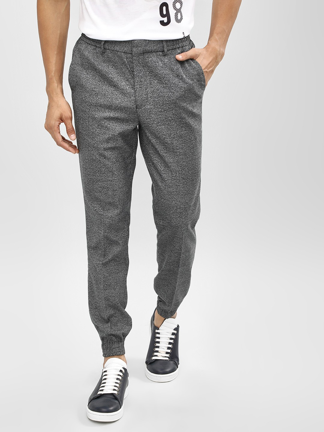 New Look Grey Elasticated Waist Cuffed Hem Joggers 1
