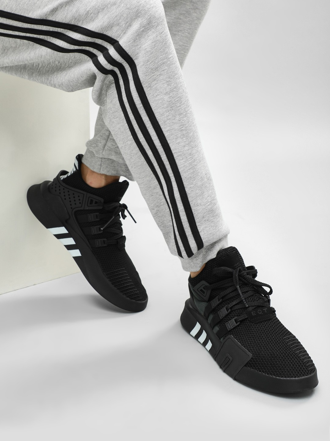 best service 18773 bc6b4 Buy Adidas Originals Black EQT Bask ADV Shoes for Men Online ...