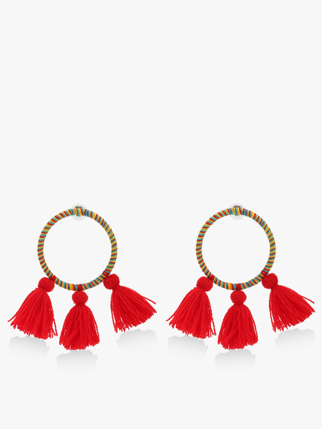 Blueberry Red Tassel Earrings 1