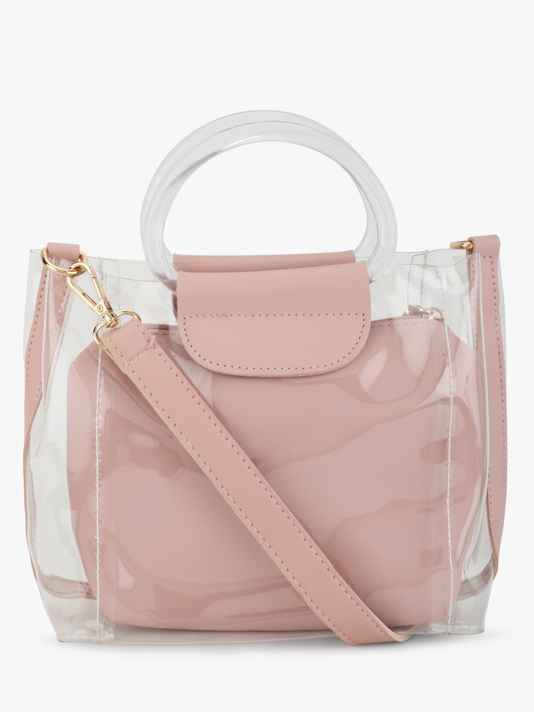 Origami Lily Blush pink Clear Sling Bag 1