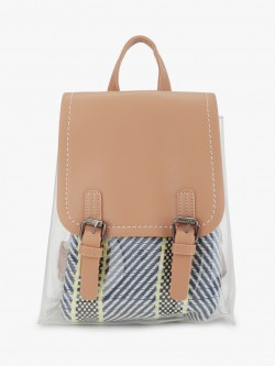 Origami Lily Clear Backpack With Insert