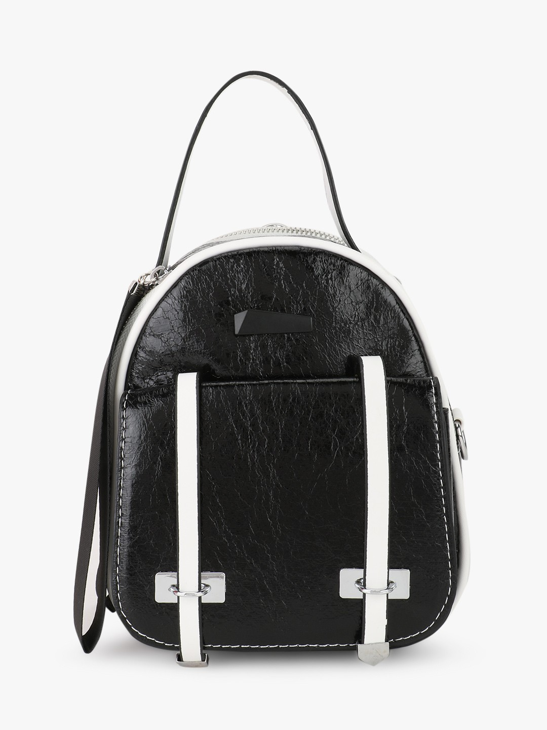 Origami Lily Black/White Holographic Mini Backpack 1