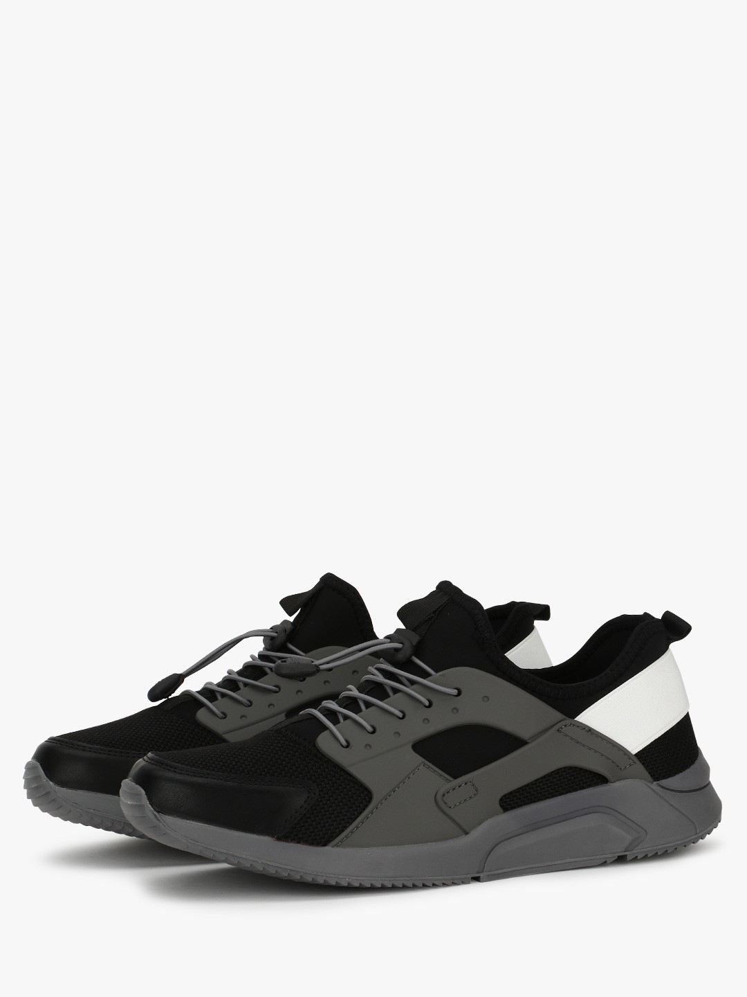 KOOVS Black 3D Panel Sneakers 1