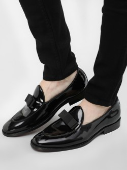 Griffin Bow Detail Patent Loafers