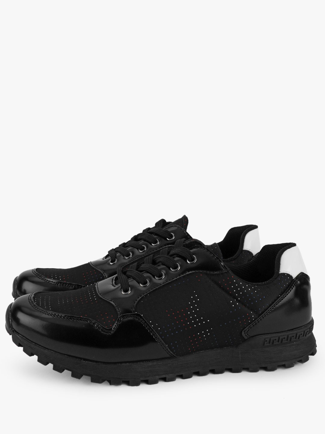 Kindred Black Contrast Tab Cleated Sole Trainers 1