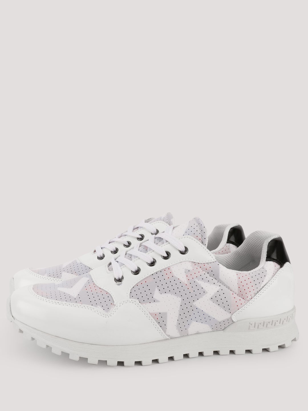 Kindred White Contrast Tab Cleated Sole Trainers 1