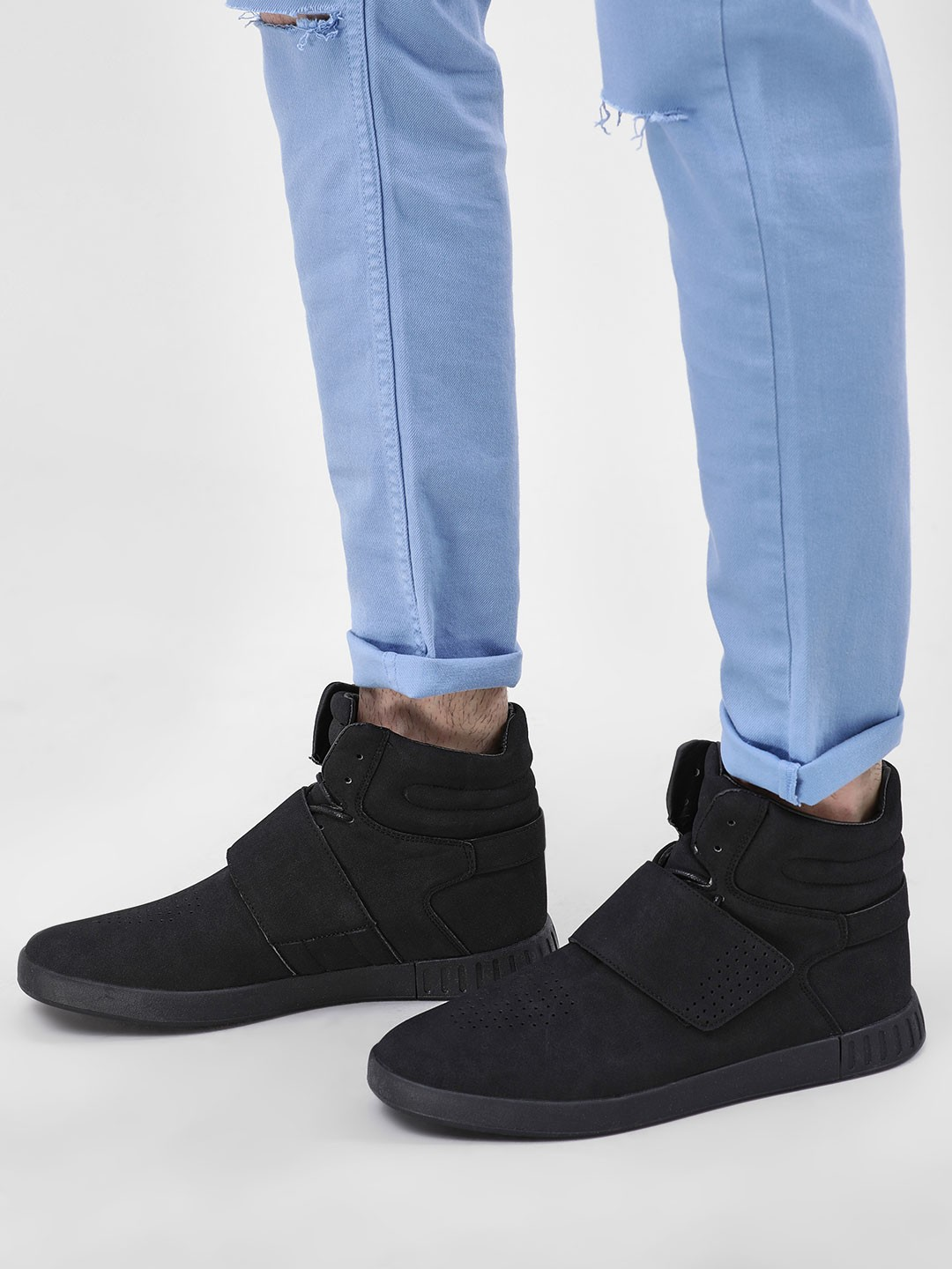 Kindred Black Suede Hi-Top Cuffed Shoes 1