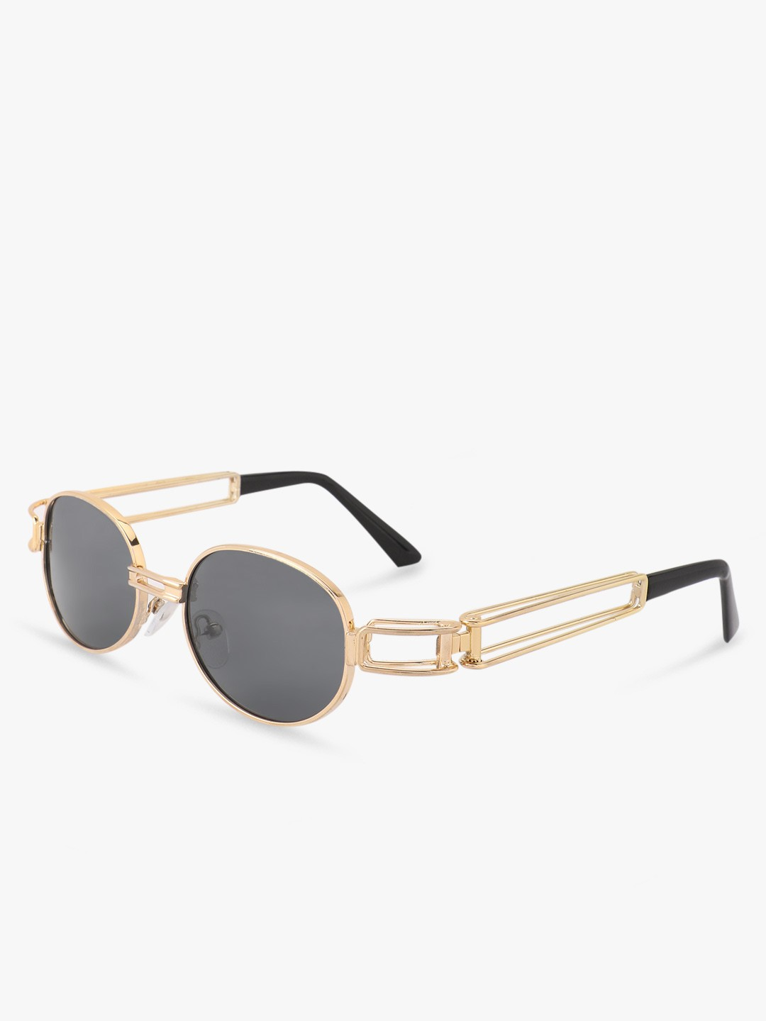 Pataaka Black Round Metallic Sunglasses 1