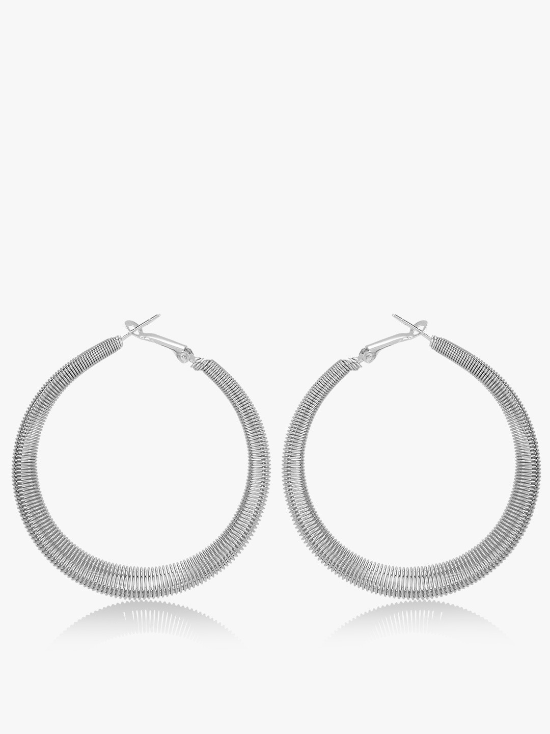 Style Fiesta Silver Hoops Earrings 1