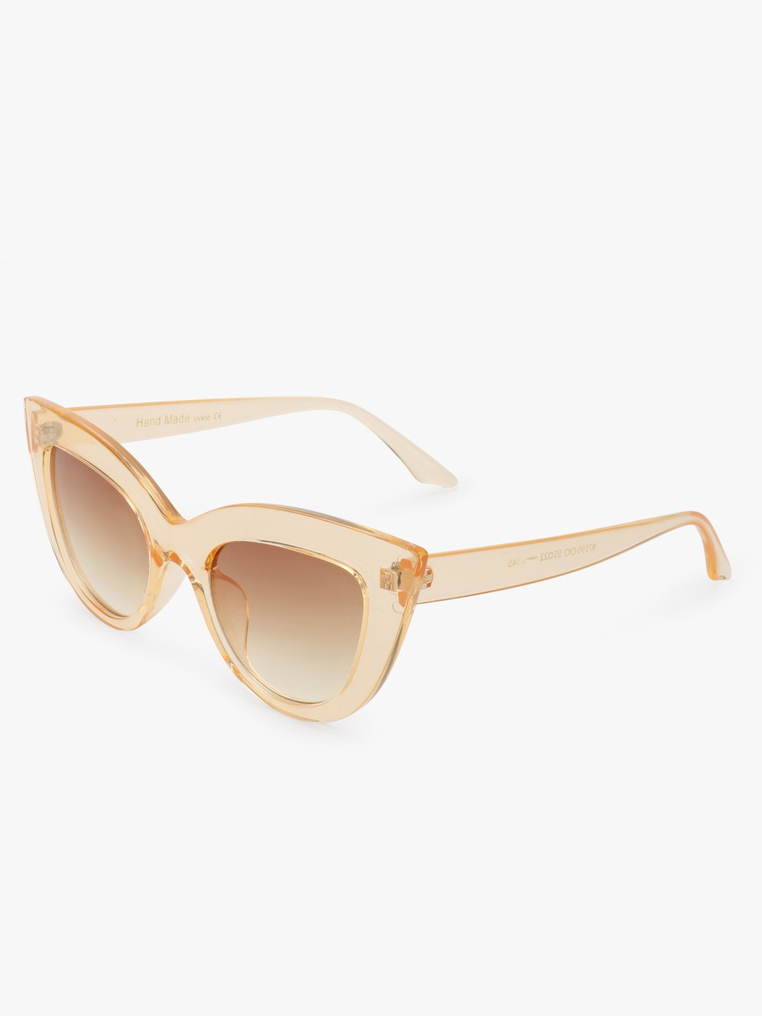 Style Fiesta Brown Transparent Frame Cateye Sunglasses 1
