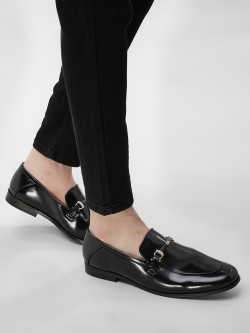 KOOVS Metal Trim Horsebit Loafers