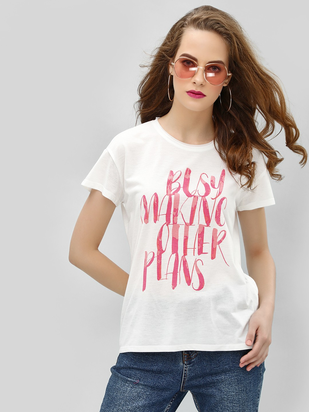Only White Printed Short Sleeve T-Shirt 1