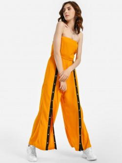 Noble Faith Colour Block Bandeau Popper Jumpsuit