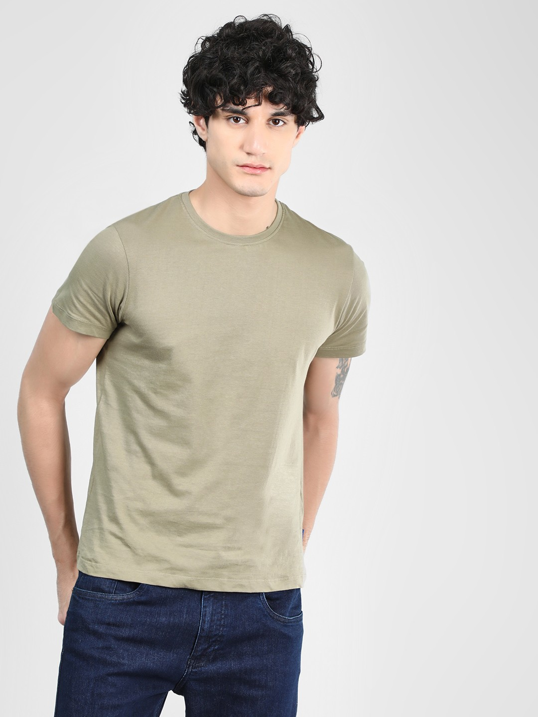 Blue Saint Green Basic Short Sleeve T-Shirt 1