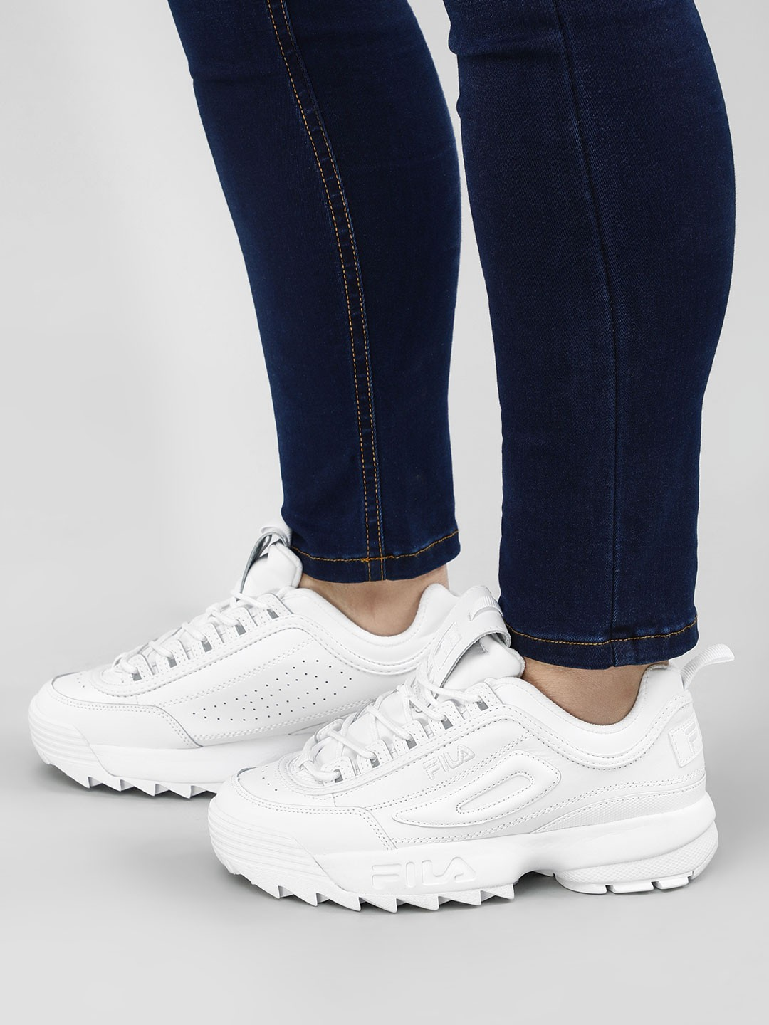 Buy Fila White Disruptor II Premium Trainers for Girls ...