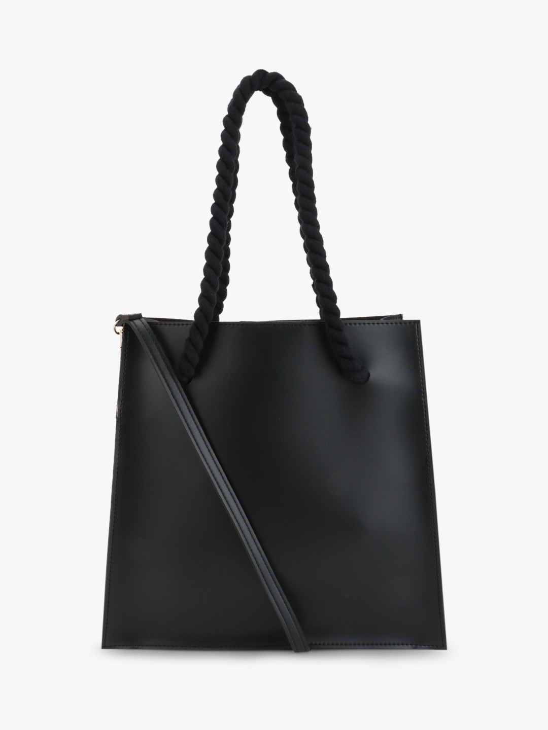 Paris Belle Black Tote Bag With Rope Handle 1