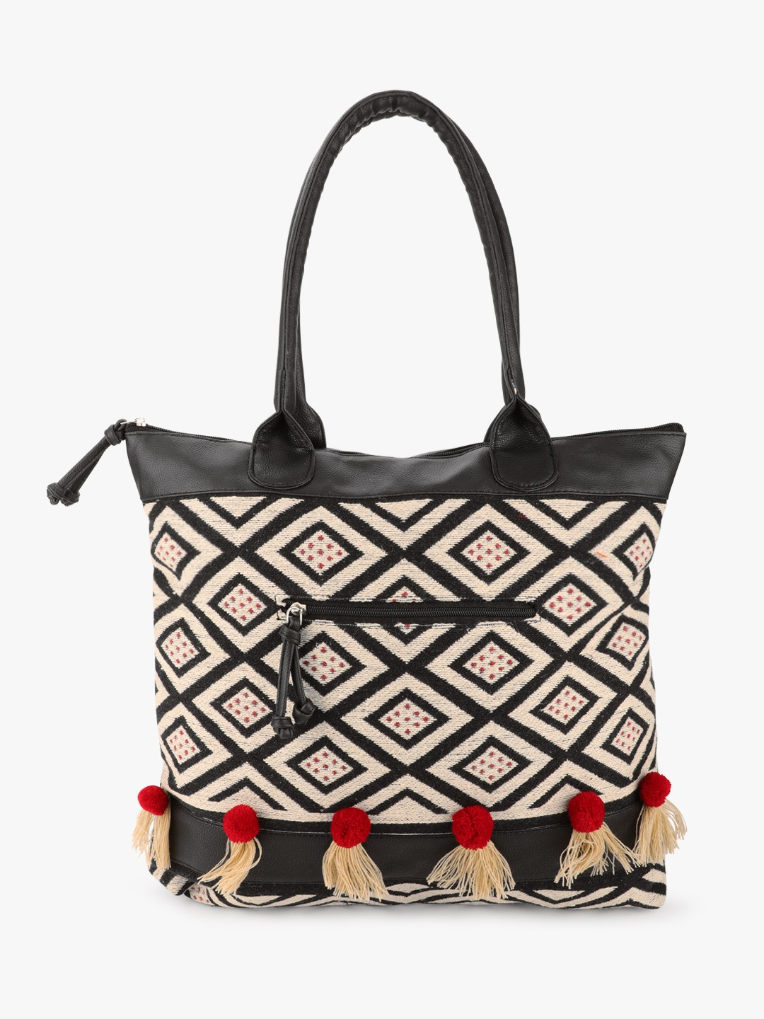 The Love Hook Multi Knitted Boho Tote Bag 1