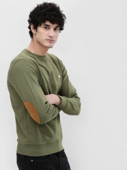 Garcon Contrast Elbow Patch Sweatshirt