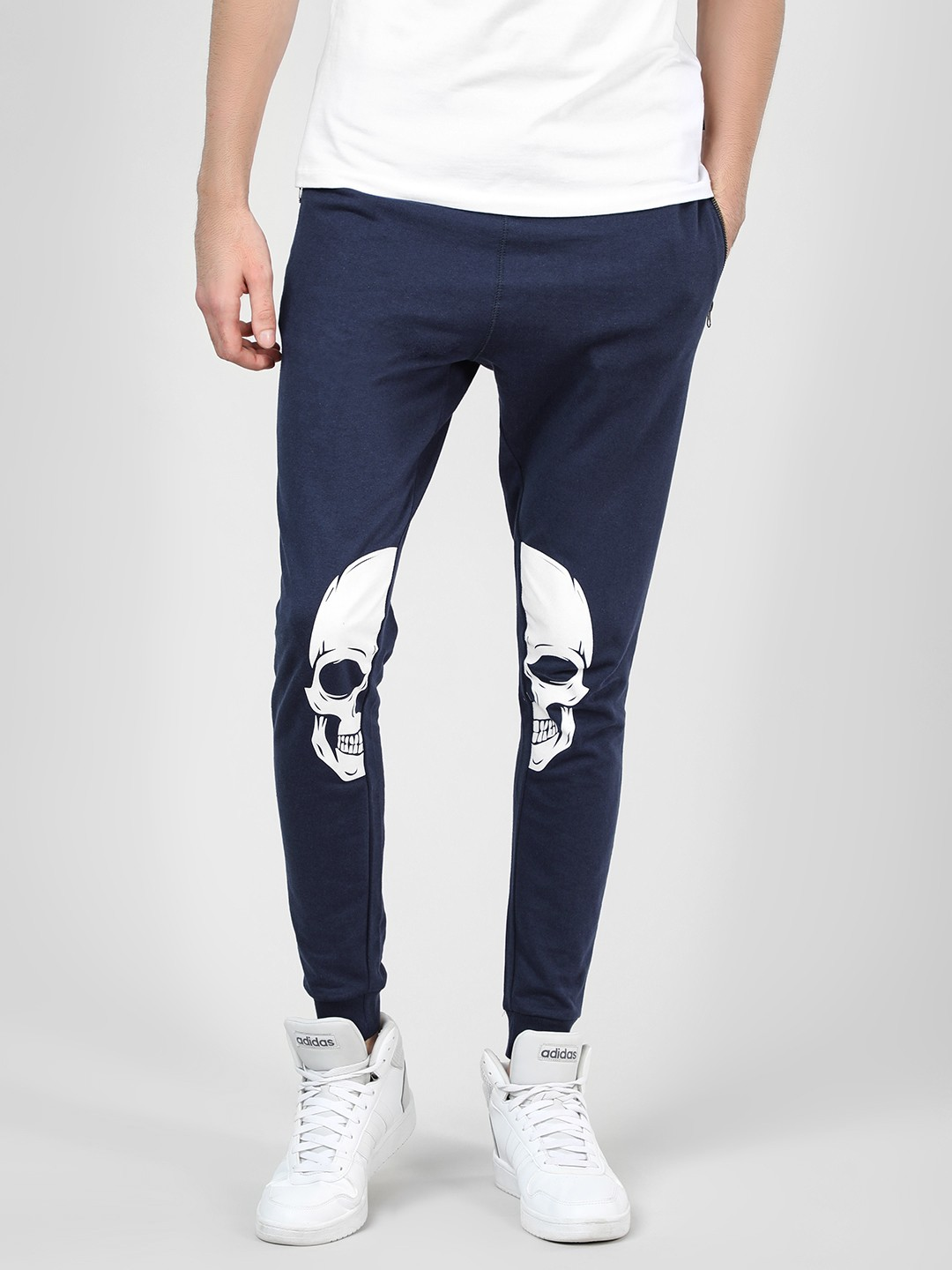 Garcon Navy Joggers With Skull Print 1