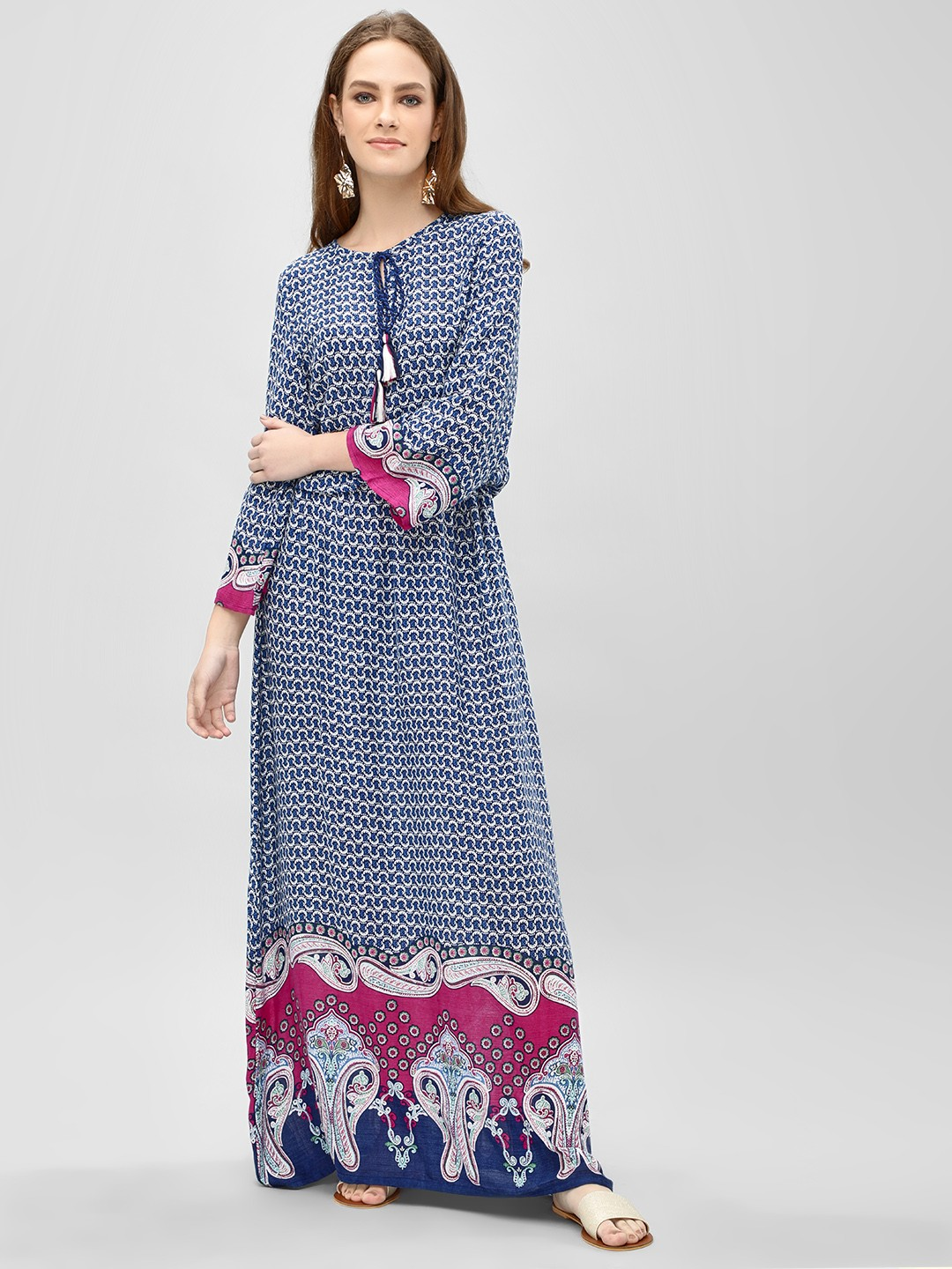 Rena Love Multi Printed Border Maxi Dress 1