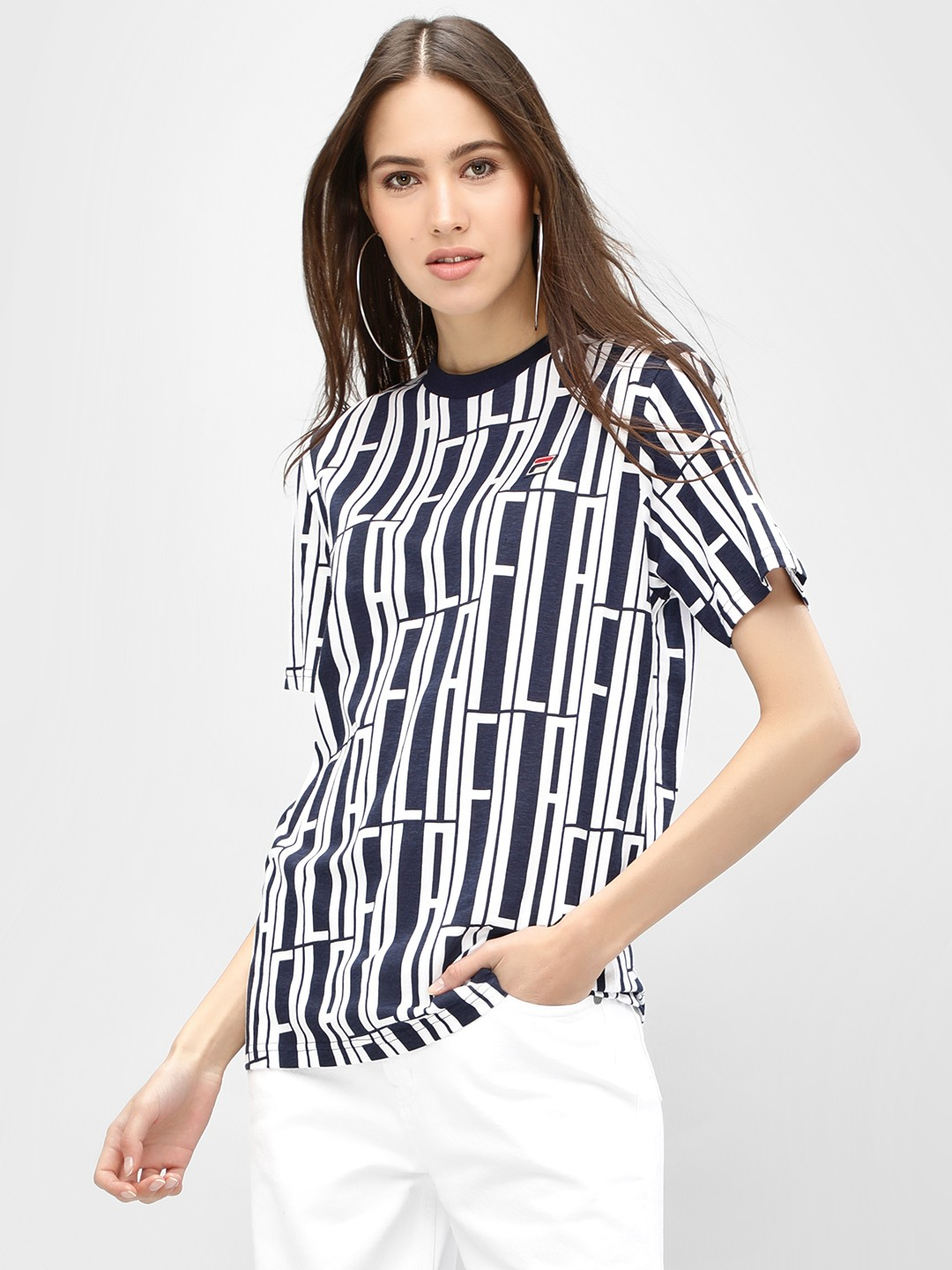 Fila Peacoat Lia All Over Print T-Shirt 1