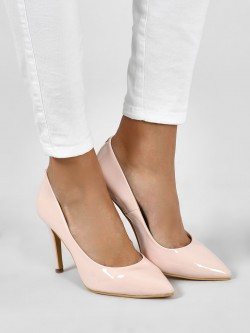 KOOVS Patent Finish Stiletto Pumps