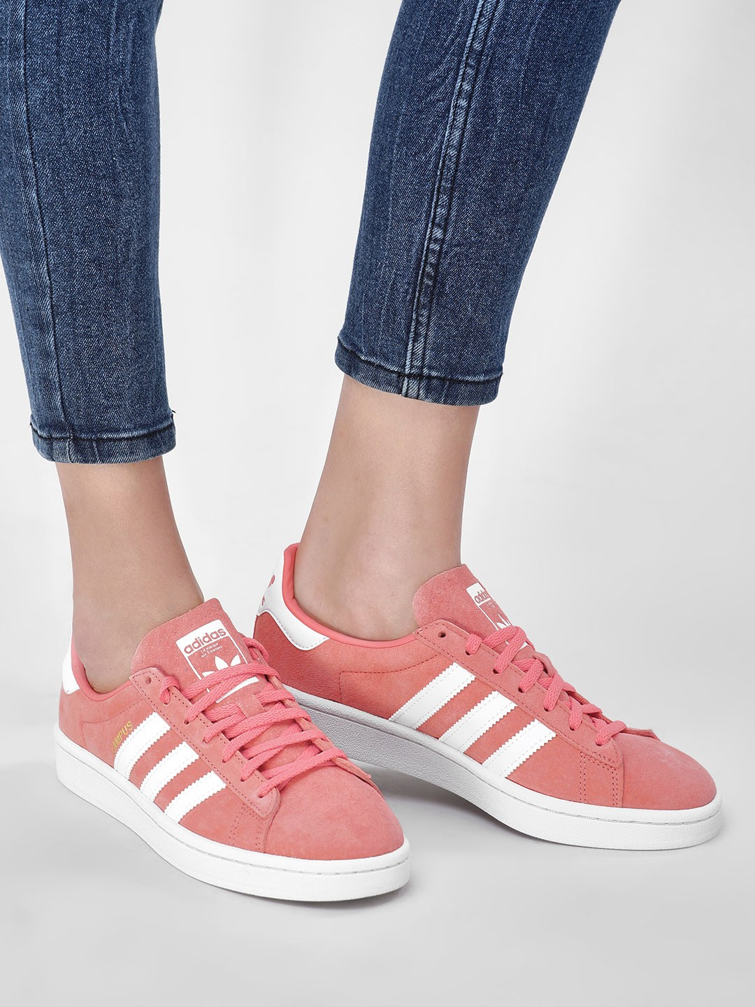 Adidas Originals Pink Campus Shoes 1