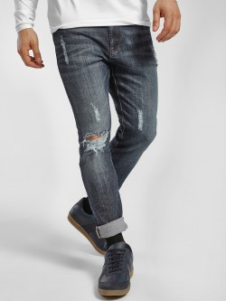 X.O.Y.O Mid Wash Distressed Skinny Jeans
