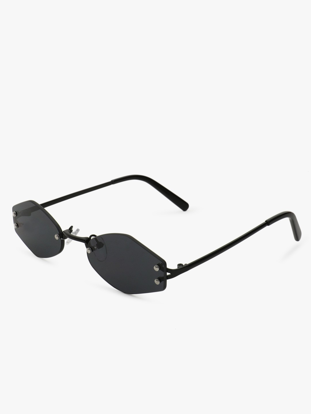 Sneak-a-Peek Black Hexagonal Micro Sunnies 1