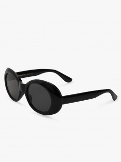 Sneak-a-Peek Elliptical Thick Framed Sunglasses