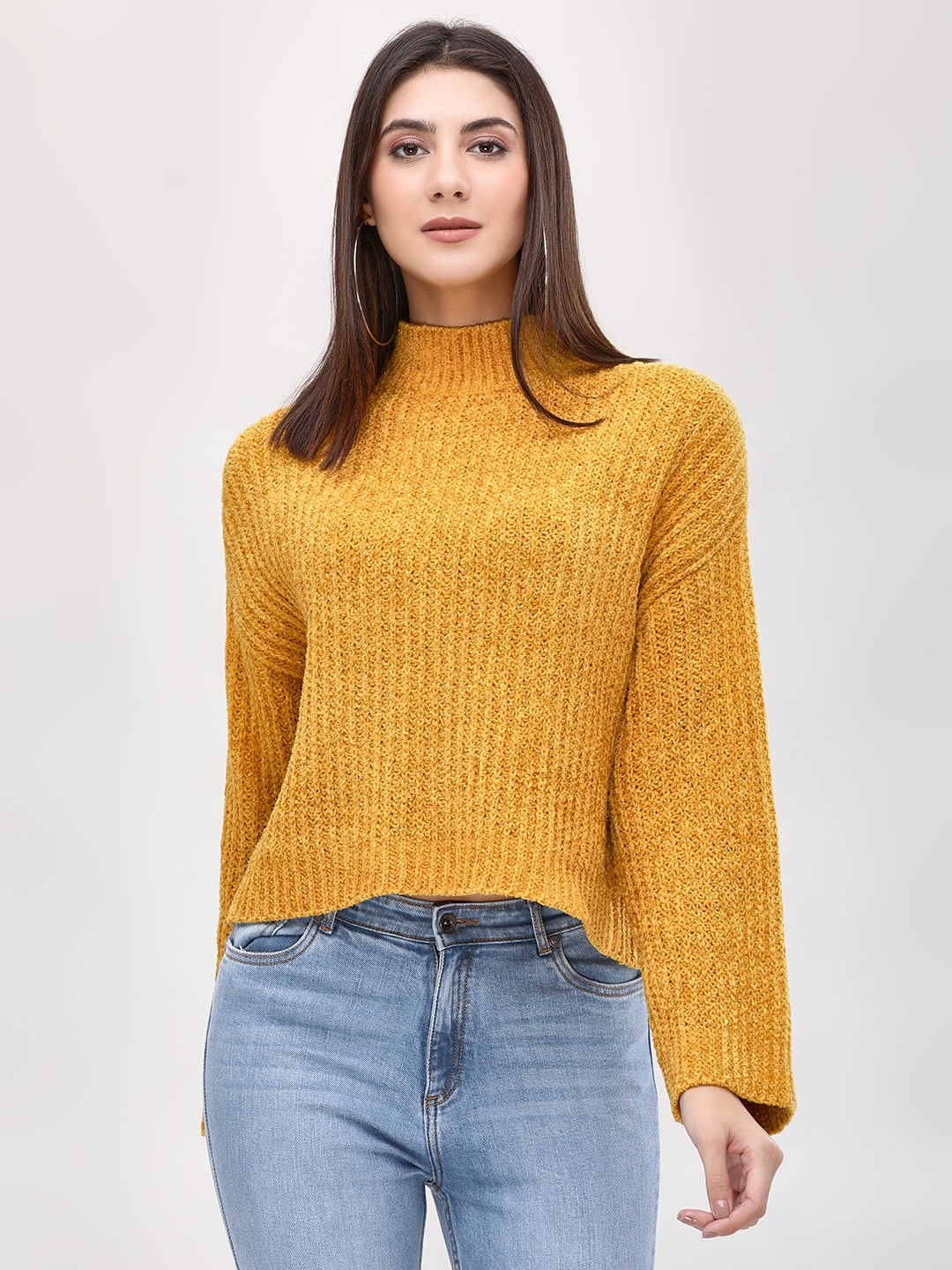 New Look dark yellow Turtle Neck Long Sleeve Pullover 1