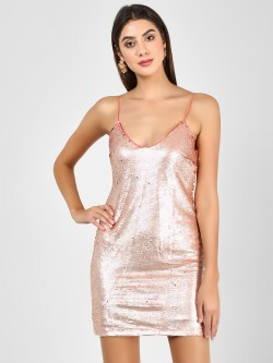Glamorous Sequined Bodycon Dress