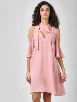 Glamorous Cold Shoulder Asymmetric Dress