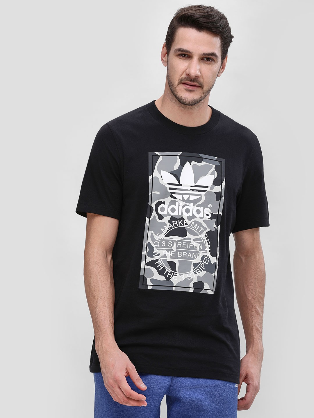 Adidas Originals Black Camouflage Placement Logo T-Shirt 1