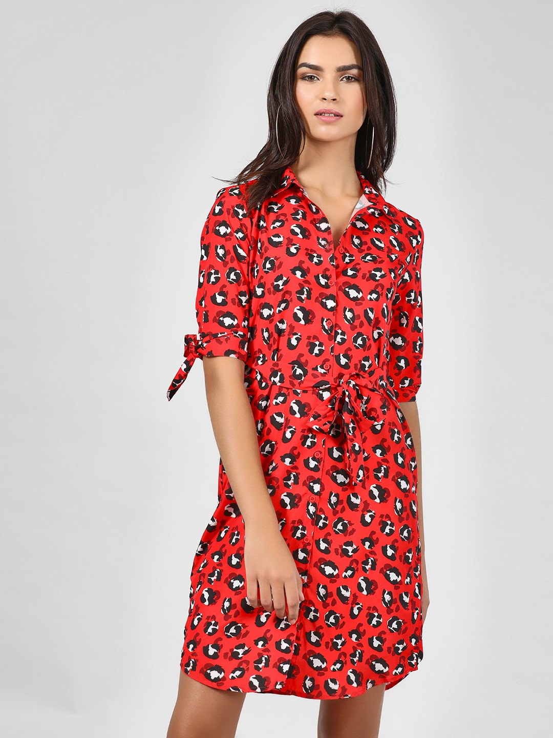 KOOVS Multi Animal Print Shirt Dress 1
