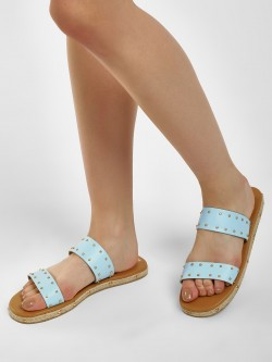 CAi Twin Strap Studded Espadrille Sandal