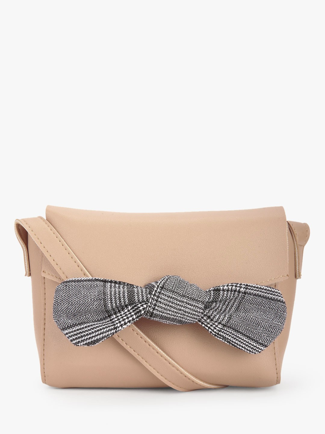 Style Fiesta Brown Bow Detail Sling Bag 1