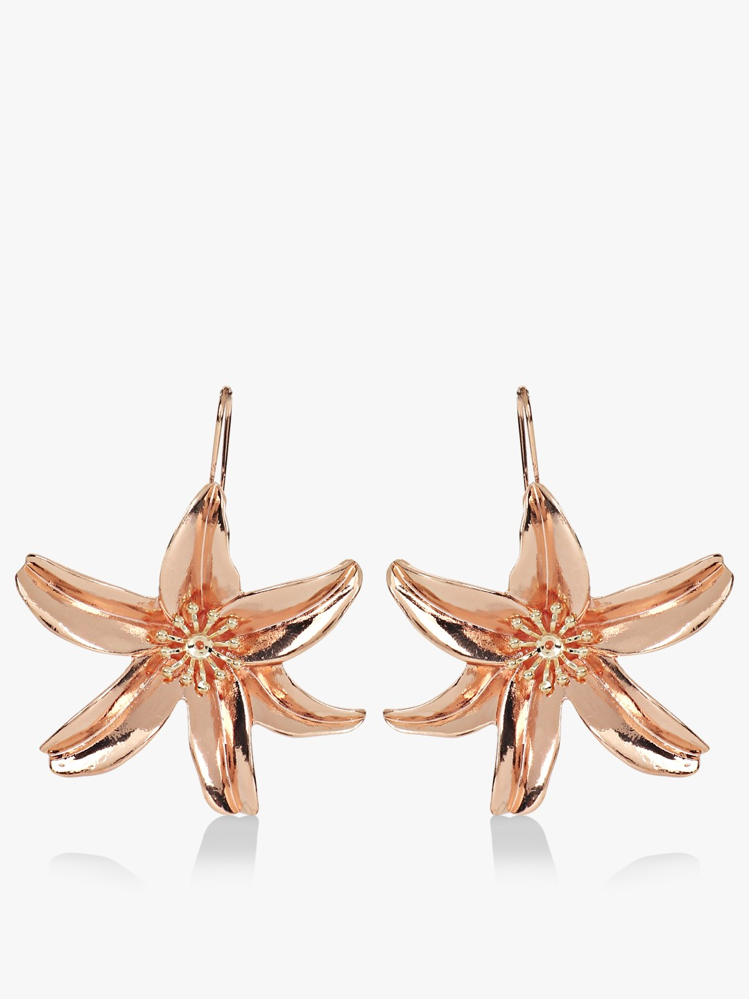 Style Fiesta Gold Floral Drop Earrings 1
