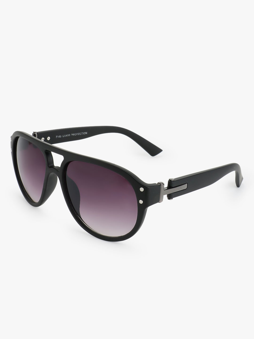 Kindred Black Double Bridge Pilot Sunglasses 1