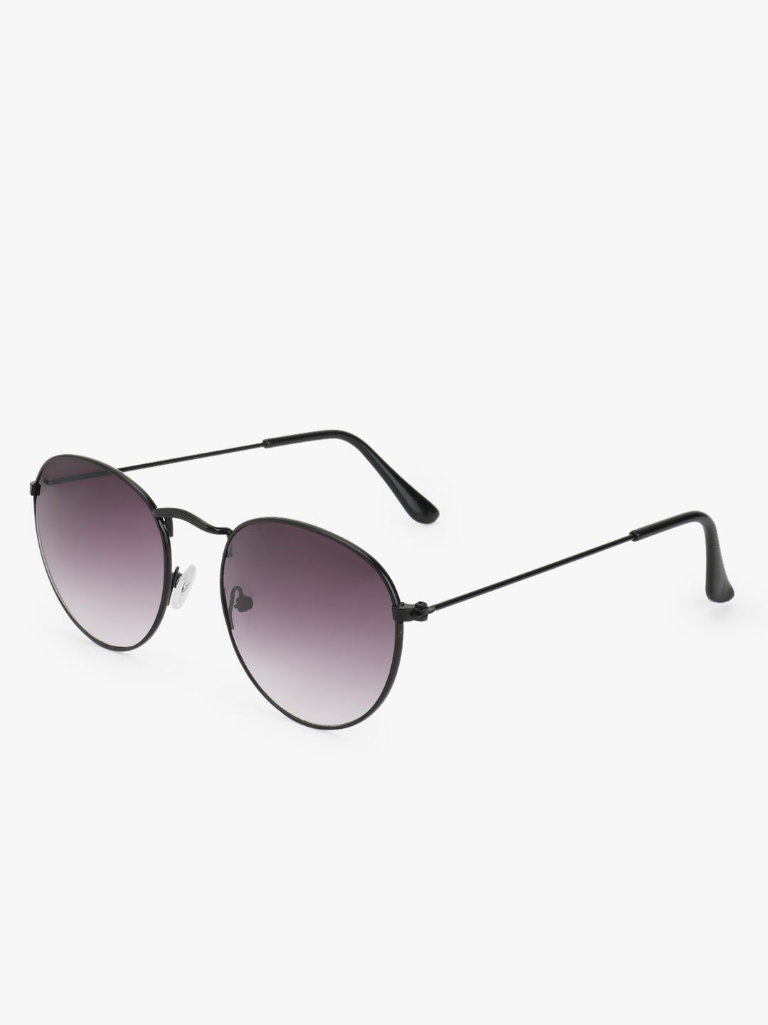 KOOVS Grey Metallic Frame Round Sunglasses 1