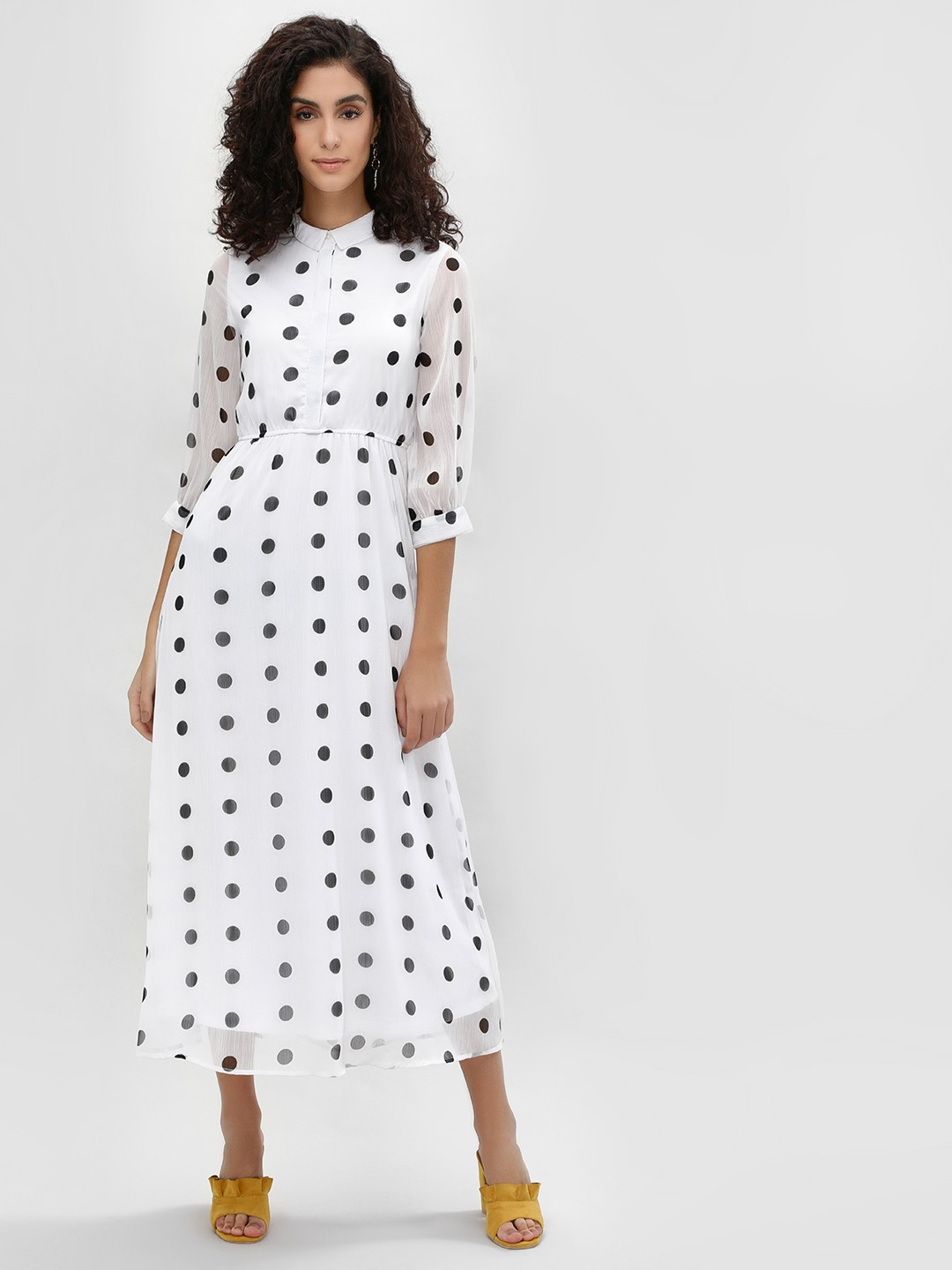 Femella WHITE/BLACK Polka Dot Maxi Dress 1