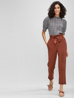 Cover Story Paper Bag Waist Trousers