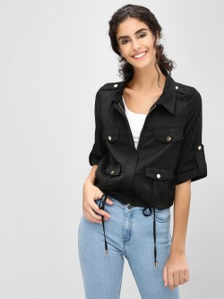 Cover Story Utility Pocket Cape Jacket