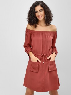 Cover Story Off Shoulder Utility Dress