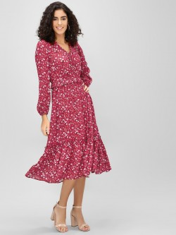 Cover Story Ditsy Floral Printed Midi Dress