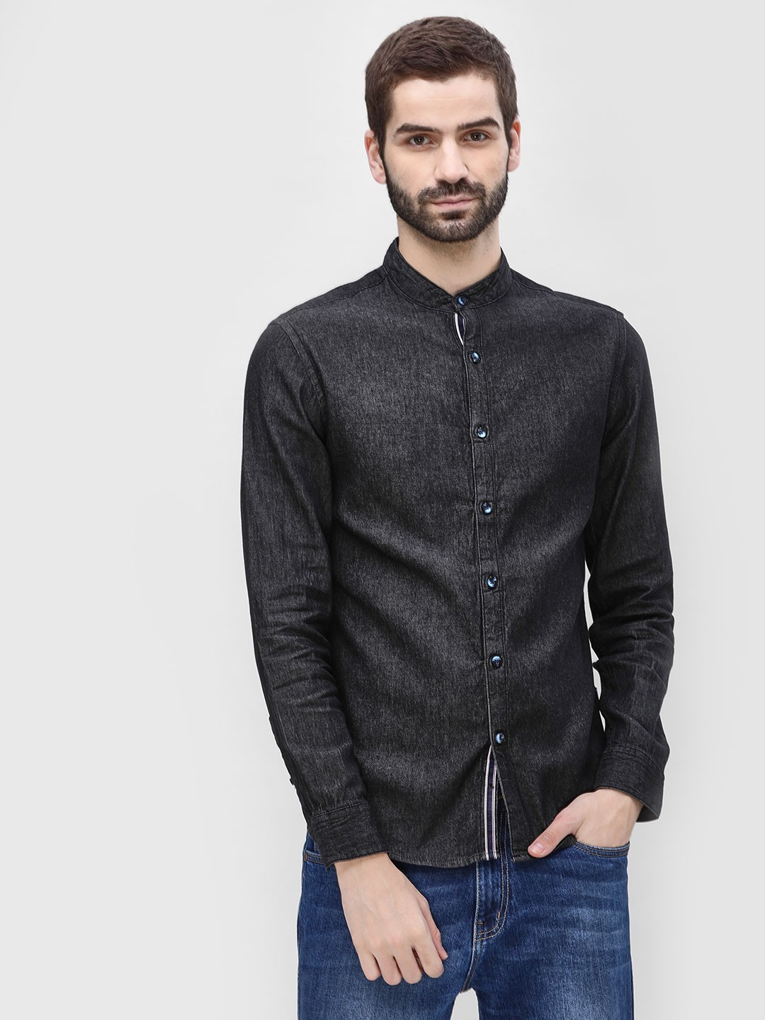 Blue Saint Black Slim Fit Casual Shirt 1